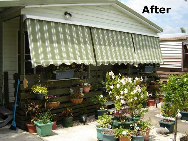 After awnings installed by Not Just Canvas, Caboolture